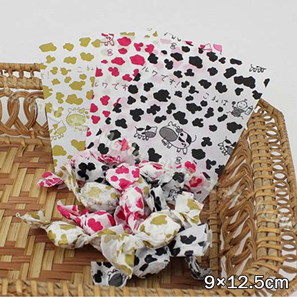 《日文乳牛-牛軋糖紙500入》包裝袋/糖果袋/餅乾袋/西點袋/飾品袋/烘培包裝