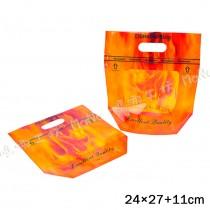《橘彩-鑽石型-手提夾鏈立袋》夾鏈袋/手提袋/包裝袋/糖果袋/麵包袋/餅乾袋/西點袋/飾品袋/塑膠袋/烘培包裝