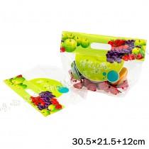 《優質水果-手提夾鏈立袋》夾鏈袋/手提袋/包裝袋/糖果袋/麵包袋/餅乾袋/西點袋/飾品袋/塑膠袋/烘培包裝