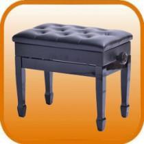單人馬蹄腿含譜箱掀蓋升降鋼琴椅
