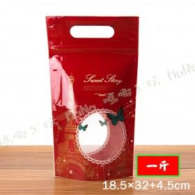 《一斤-浪漫巴黎-手提夾鏈立袋》夾鏈袋/手提袋/包裝袋/糖果袋/麵包袋/餅乾袋/西點袋/飾品袋/塑膠袋/烘培包裝