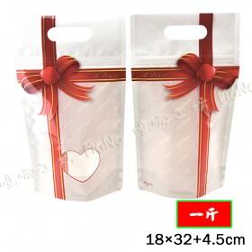 《一斤-蝴蝶結-手提夾鏈立袋》夾鏈袋/手提袋/包裝袋/糖果袋/麵包袋/餅乾袋/西點袋/飾品袋/塑膠袋/烘培包裝